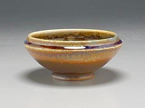 "Ice Cream Bowl in Copper Penny and Ash Glazes, 5.75""dia. (Ben Owen III)"