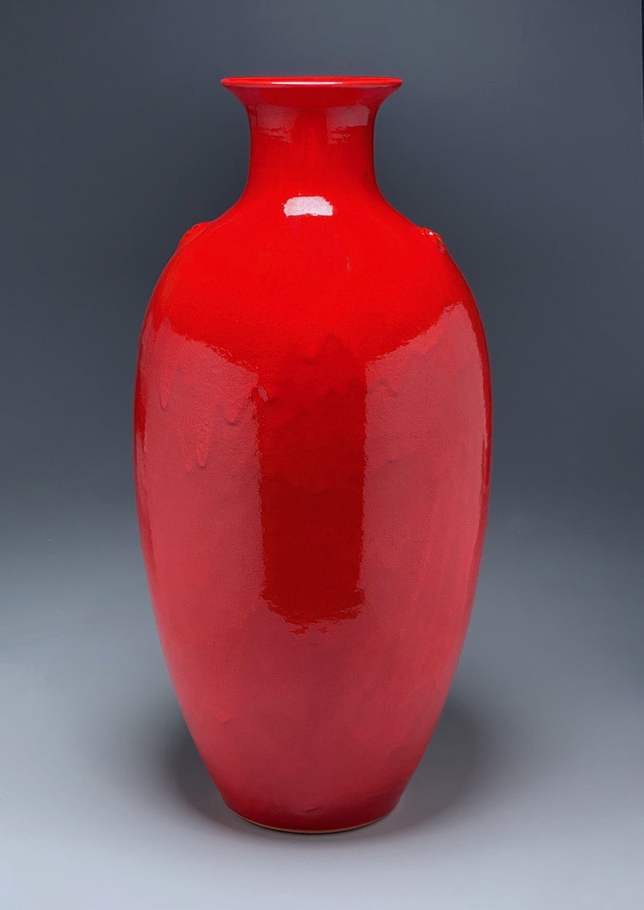 Dogwood Vase in Chinese Red, 28