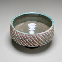 "Load image into Gallery viewer, Carved Serving Bowl in Patina Green, 8.5""dia."