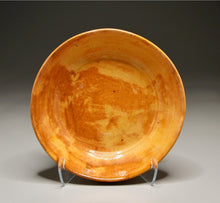 "Load image into Gallery viewer, Pie Plate in Orange Glaze, 9.75""dia."