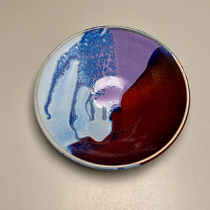 "Bowl in Red, Blue, Purple, 8.5""dia."