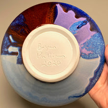 "Load image into Gallery viewer, Bowl in Red, Blue, Purple, 8.5""dia."