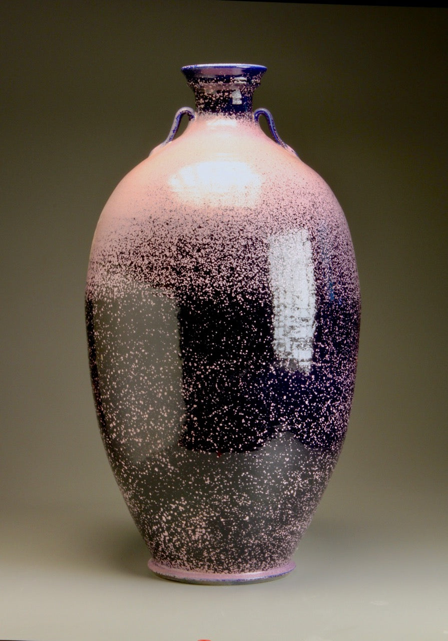 Two-Handled Vase in Nebular Purple, 36