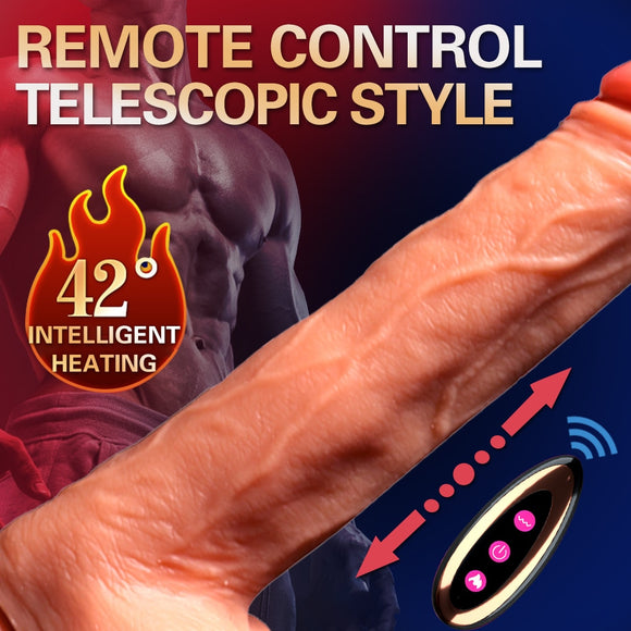 Electronic Telescopic Realistic Heating Dildo Vibrator (choose from 3 styles)