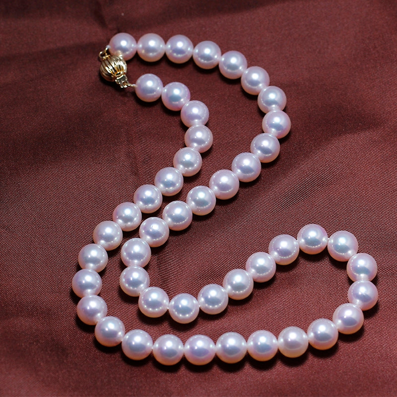 S118 Cultured Freshwater Baroque Pearl (8mm) 2-Pc. Stretch Bracelet Set