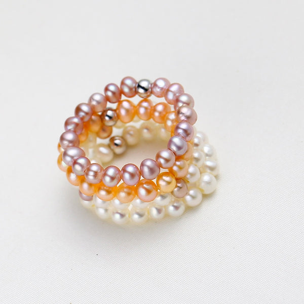 Candy Color Baby Pearl Ring