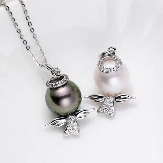 Angel Pearl Chain Necklace