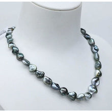 Load image into Gallery viewer, Black Keshi Pearl Necklace