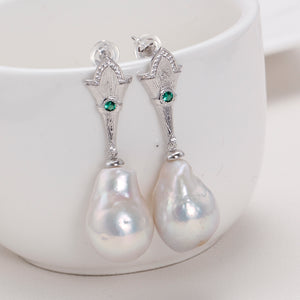 Teardrop Baroque Pearl Earrings