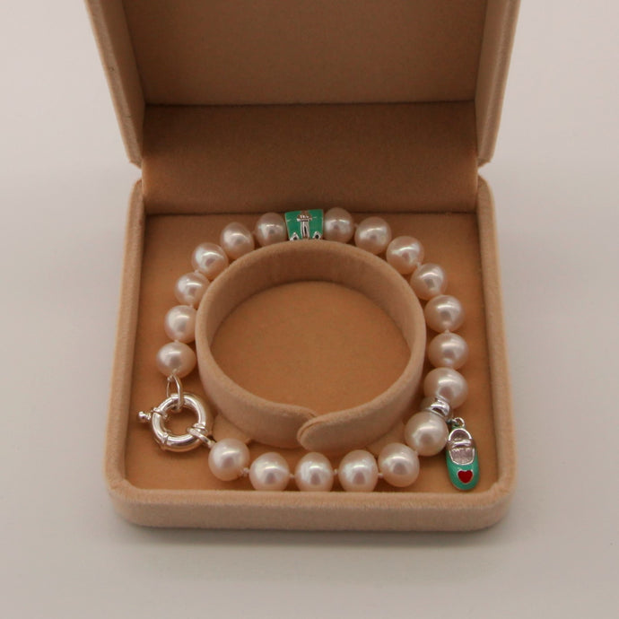 Bracelet perle avec 925 Sterling Silver Charms , )