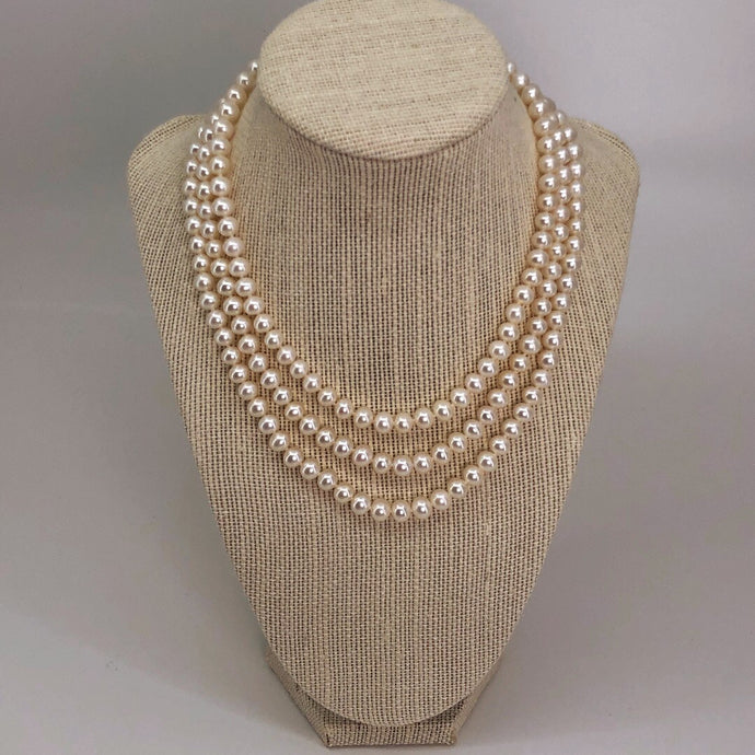 Triple fil collier de Pearl