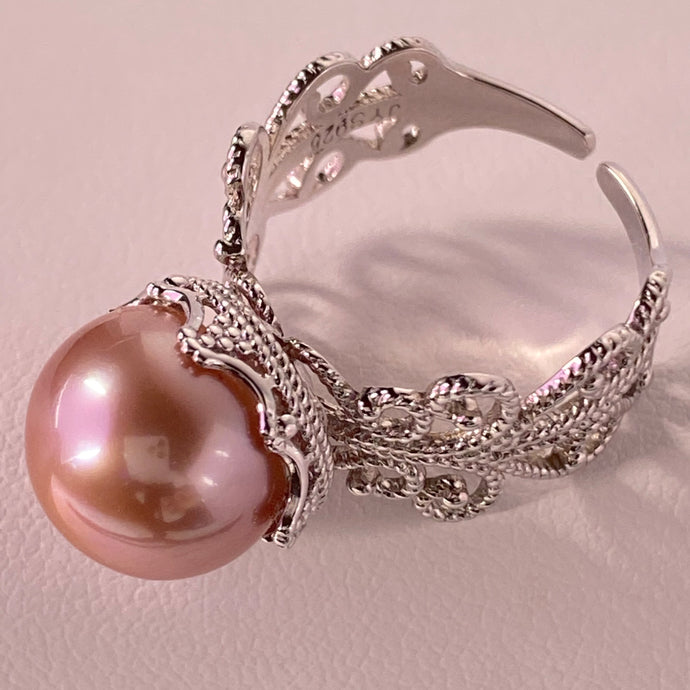 Lace Pearl Ring