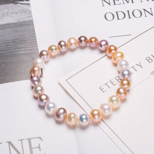 Mixed Candy Pearl Bracelet