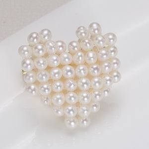 Heart Shape Baby Pearl Brooch