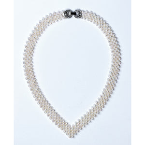 V Neck Baby Pearl Necklace