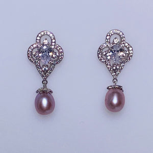 Plum Blossom Pearl Earrings