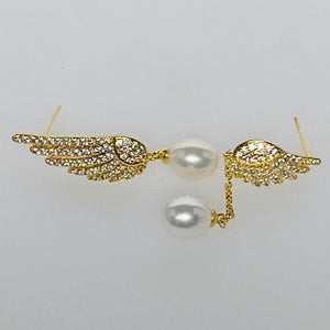 Asymmetry Feather Earrings
