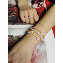 Carregar imagem no visualizador da galeria, Pearl and Shell Charms Bracelet and Ring