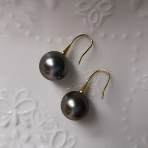 Tahitian Pearl Hook Earrings