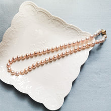 Load image into Gallery viewer, Salmon Pink Necklace & Earring Set