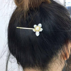 Flower Pearl Hair Pins