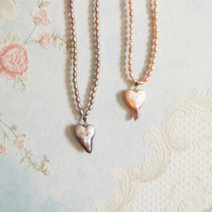 Baroque Heart Pearl Necklaces