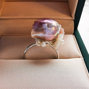 Tulip Baroque Pearl Ring