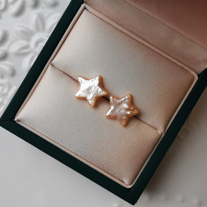 Golden Star-Shape Baroque Earrings