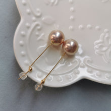 Load image into Gallery viewer, Edison Pearl Bar Earrings