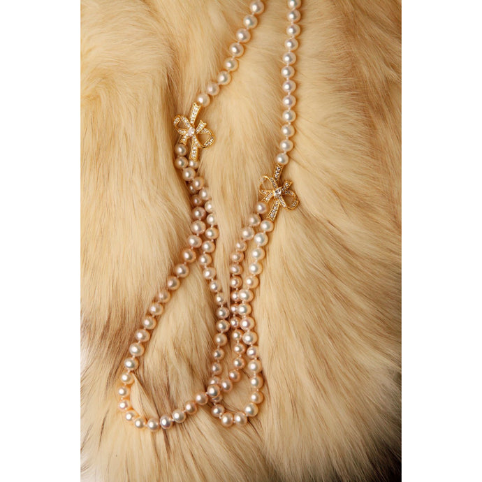 Pale Gold Pearl Necklace