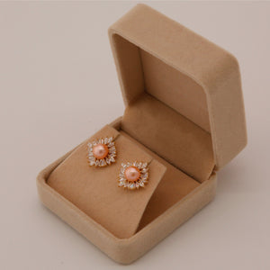Shine Pearl Stud Earrings