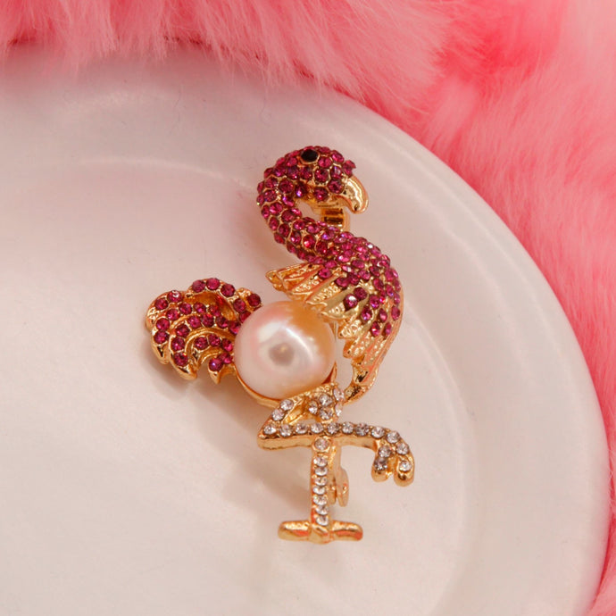 Broche Perle Flamingo