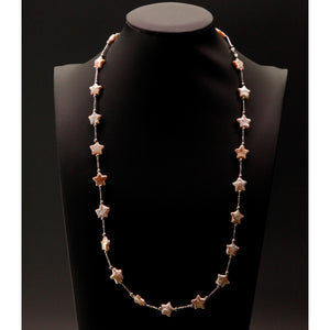 Star Shape Baroque Pearl Long Necklace