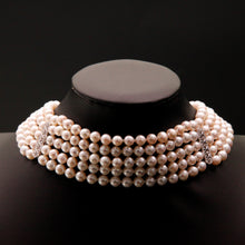 Load image into Gallery viewer, Five-Strand Choker Pearl Necklace