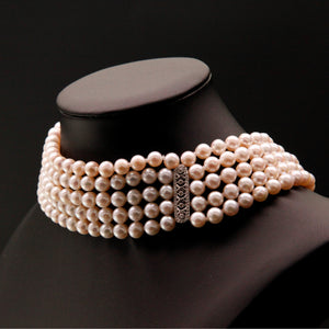Five-Strand Choker Pearl Necklace