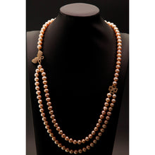 Load image into Gallery viewer, Butterfly and Four Leaf Clove Cultured Pearl Necklace