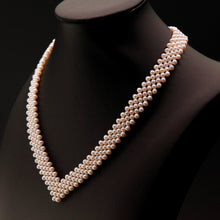 Load image into Gallery viewer, V -Shape Baby Pearl Necklace