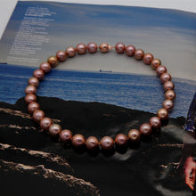 Load image into Gallery viewer, Rose Golden Mega Pearl Necklace