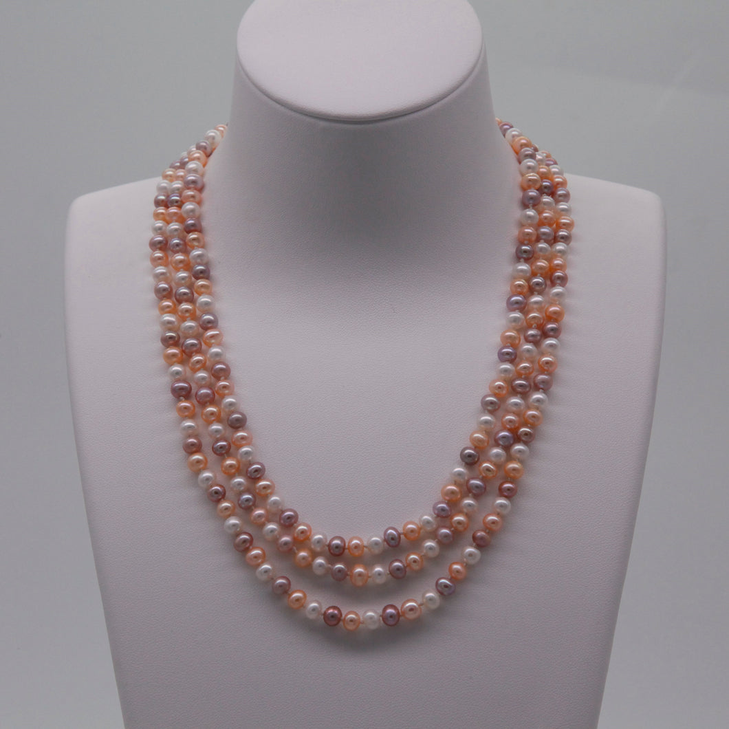 Mixed Candy Color 45'/ 115cm Long Pearl Necklace