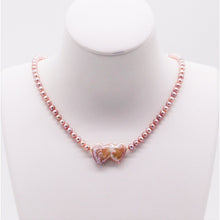 Load image into Gallery viewer, Heart 2 Heart Pearl Necklace