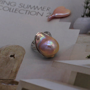 Rainbow Baroque Pearl Ring