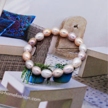Load image into Gallery viewer, Lara J. Pearl Necklace & Bracelet Set