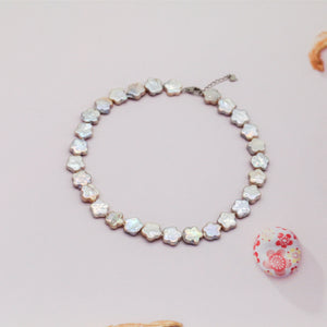 Plum Blossom Pearl Choker Necklace