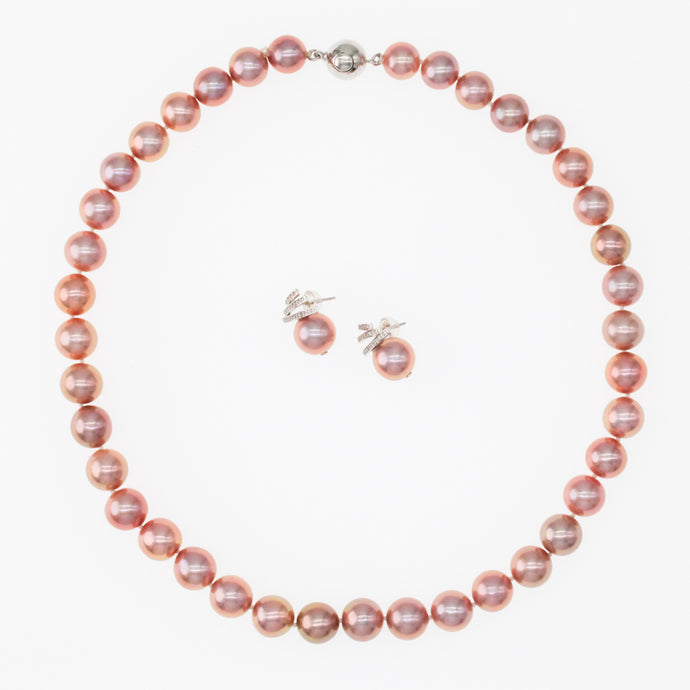 Rose Red Edison Pearl Necklace