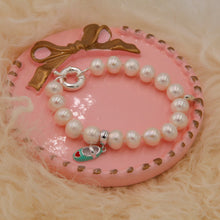 Load image into Gallery viewer, Pearl Bracelet with 925 Sterling Silver Charms