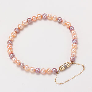 18K Gold Magnet Clasp Candy Baby Pearl Bracelet
