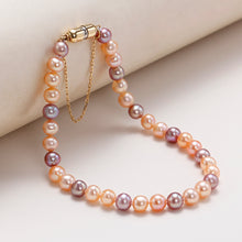 Load image into Gallery viewer, 18K Gold Magnet Clasp Candy Baby Pearl Bracelet