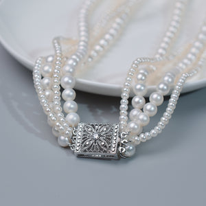 4-Strands Pearl Necklace