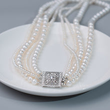 Load image into Gallery viewer, 4-Strands Pearl Necklace