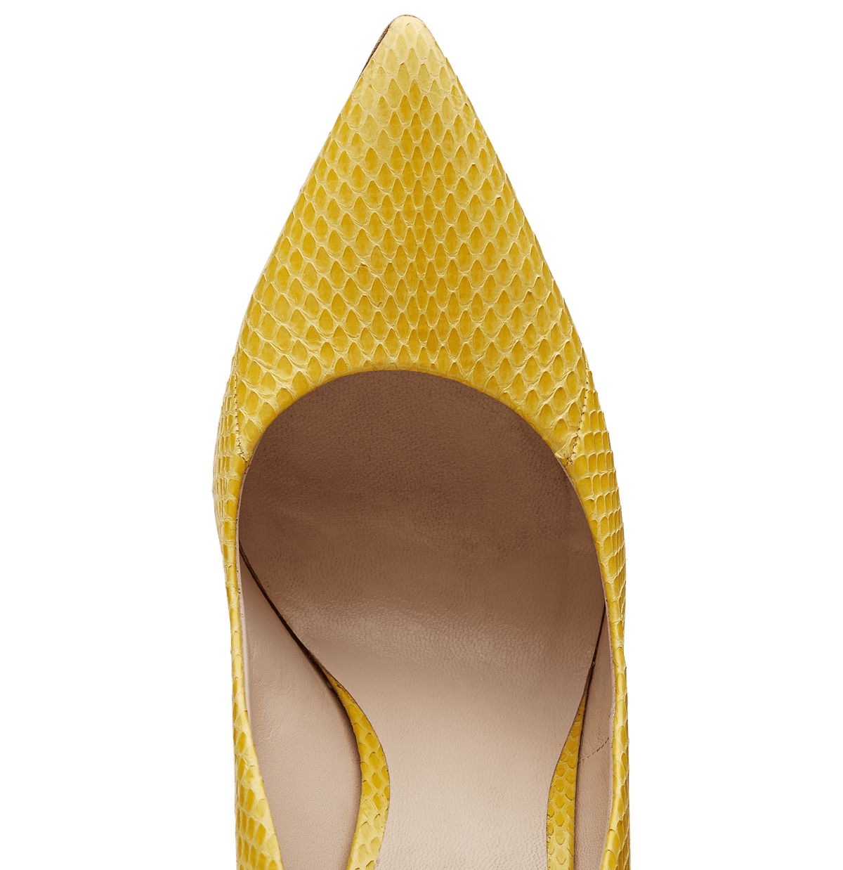 Mustard Ayers Snakeskin Empire Pumps